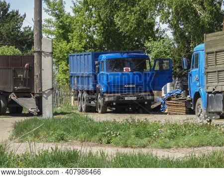 Kazakhstan, Ust-kamenogorsk, May 17, 2020: Kamaz 53215. Russian Truck. Commercial Vehicles