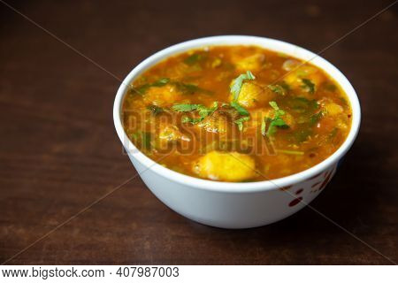 Famous Indian Nepali Potato Curry Or Bhaji. Especially It Is Served With Puri. Puri Bhaji Recipe