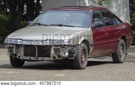 Kazakhstan, Ust-kamenogorsk, June 2, 2020: Mazda Capella Fourth Generation (gd/gv; 1987-1992). Mazda