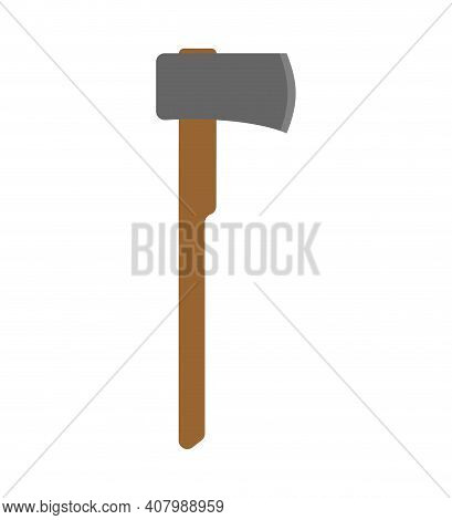 Ax Lumberjack Isolated. Great Axe Woodcutter Isolated