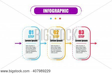 Presentation Business Infographics Template With Three Options. Business Concept With 3 Steps. Timel