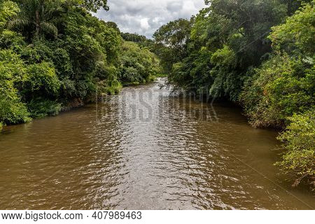 Paranhana River With Forest Around