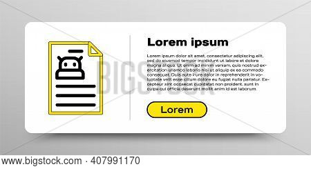 Line Technical Specification Icon Isolated On White Background. Technical Support Check List, Team W
