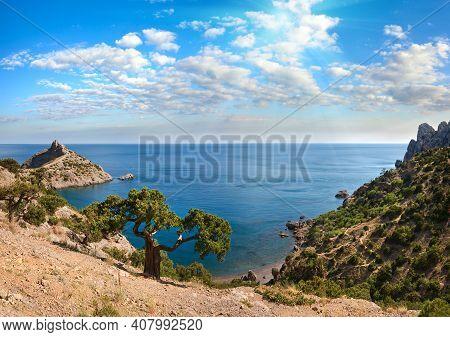 Coastline Of Novyj Svit Reserve, Crimea, Ukraine, Capchik Cape.