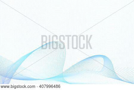 Wavy Light Blue Subtle Lines. Sea, Ocean Waves Concept. Colored Wave Pattern. Watermark Design. Undu