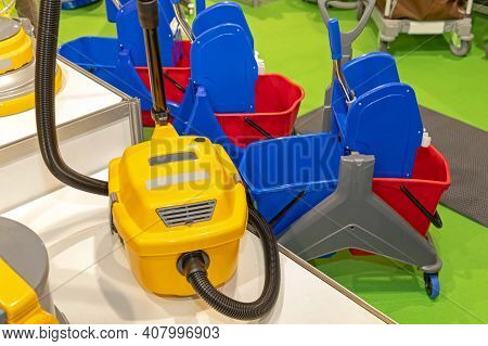 Vacuum Cleaner And Janitoral Carts For Commercial Cleaning Business