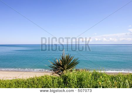 Wild Landscape Of The Mediterranean Sea In Spain