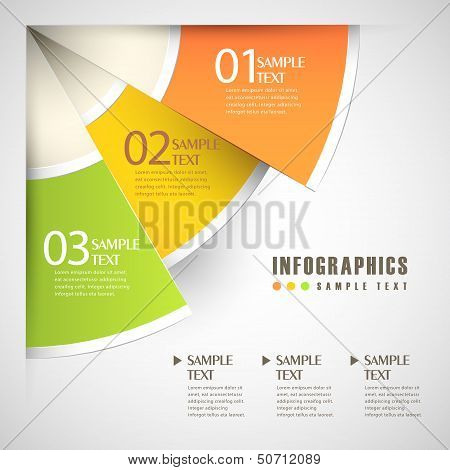 vector abstract sector paper infographics. can be used for workflow layout diagram number options web design. poster