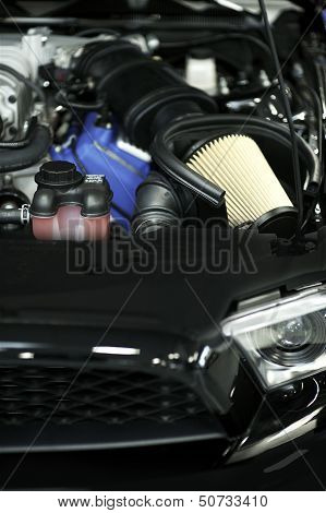 Sport Vehicle Air Filter - Muscle Car Under the Hood. Performance Engine. poster