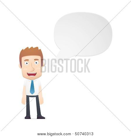 office worker in various poses