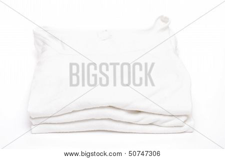 White Vests On A Stack