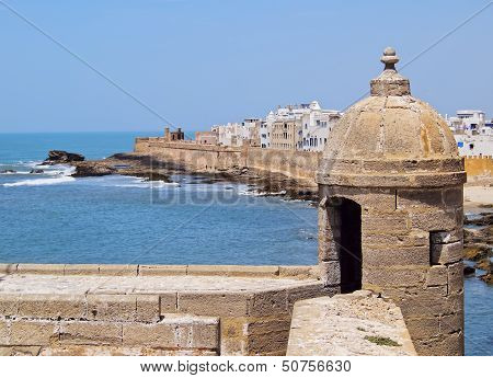 Skala du Port- fortifications in port of Essaouira Morocco Africa poster