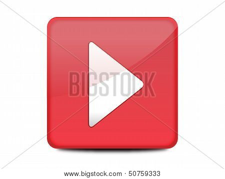 Red play button