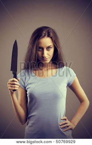 Dangerous Woman With A Knife