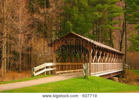 beautiful covered bridge found in nys poster