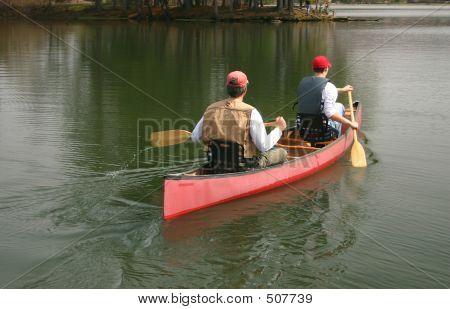 Men In A Canoe
