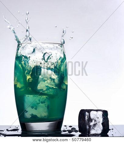 Iced Mint Flavored Drink Splash
