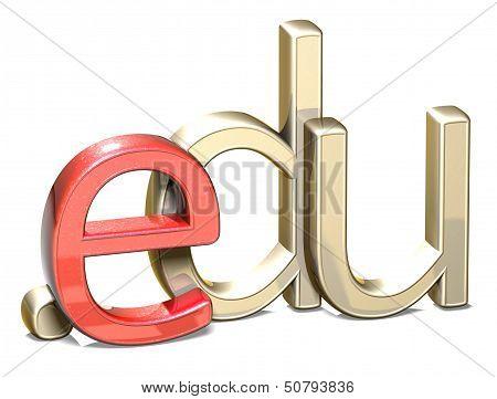 3D Internet Domain On White Background