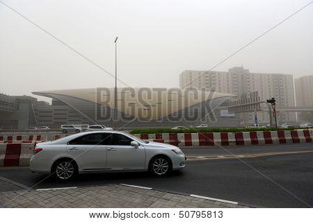 Dubai, Uae - September 8: The Sandstorm In Dubai On September 8, 2013 In Dubai, Uae. It Usually Happ