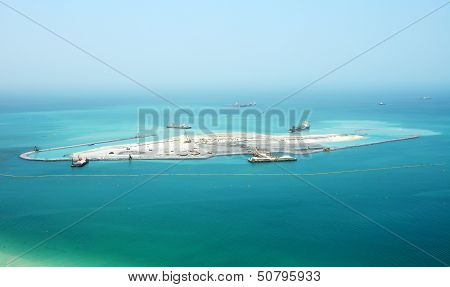 Dubai, Uae - September 11: The Construction Of The Us$1.63Bn Bluewaters Island Project Where Will Be