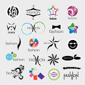 collection of vector icons for clothing and fashion accessories poster