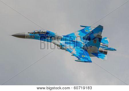 Ukrainian SU-27 display during Radom Air Show 2013