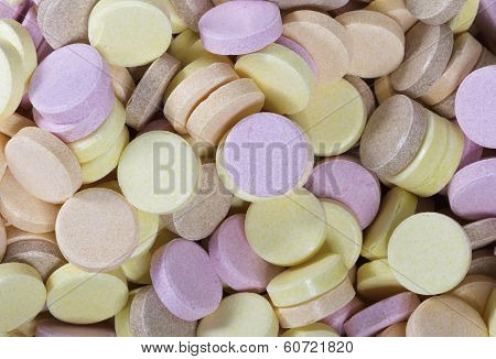 Colorful sherbet sweets to eat and as a background