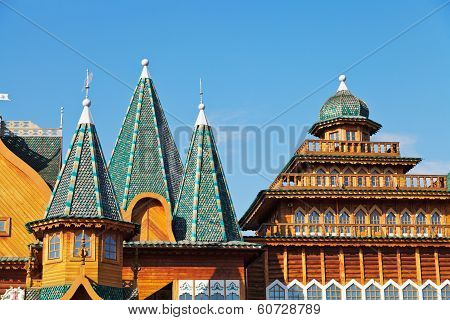 Decorated Towers And Roof Of Great Wooden Palace