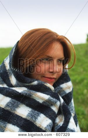 Woman With Blanket