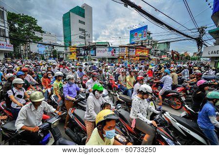 Saigon, Vietnam - June 15: Road Traffic On June 15, 2011 In Saigon (ho Chi Minh City)
