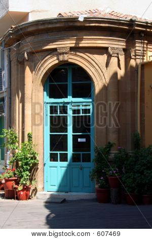 Cafe Entrance At Old Nicosia - Cyprus