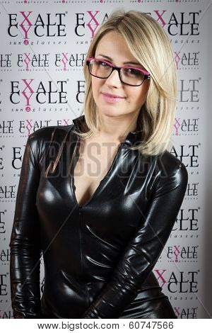 Pretty Model Wearing Glasses At Mido 2014 In Milan, Italy