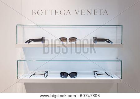 Bottega Veneta Glasses On Display At Mido 2014 In Milan, Italy