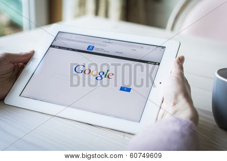 google on tablet