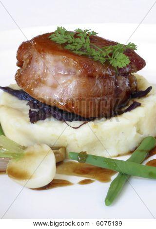 Pork and vegtables.
