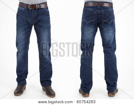 men in jeans trousers