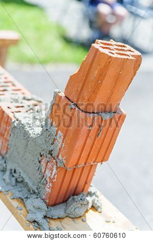 Poor work with bricks