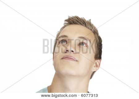 Daydreaming Young Man