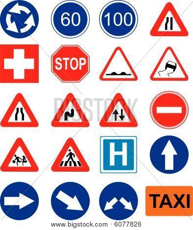 vector road sign