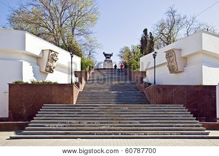 Sevastopol, Staircase To The Monument To The Brig Mercury