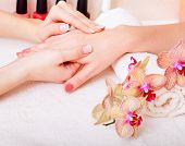 manicure and pedicure. body care, spa treatments poster