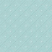 Teal and White Diamonds Tiles Pattern Repeat Background that is seamless and repeats poster