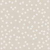 white and beige monochrome little dotted flowers on light background romantic floral seamless pattern poster