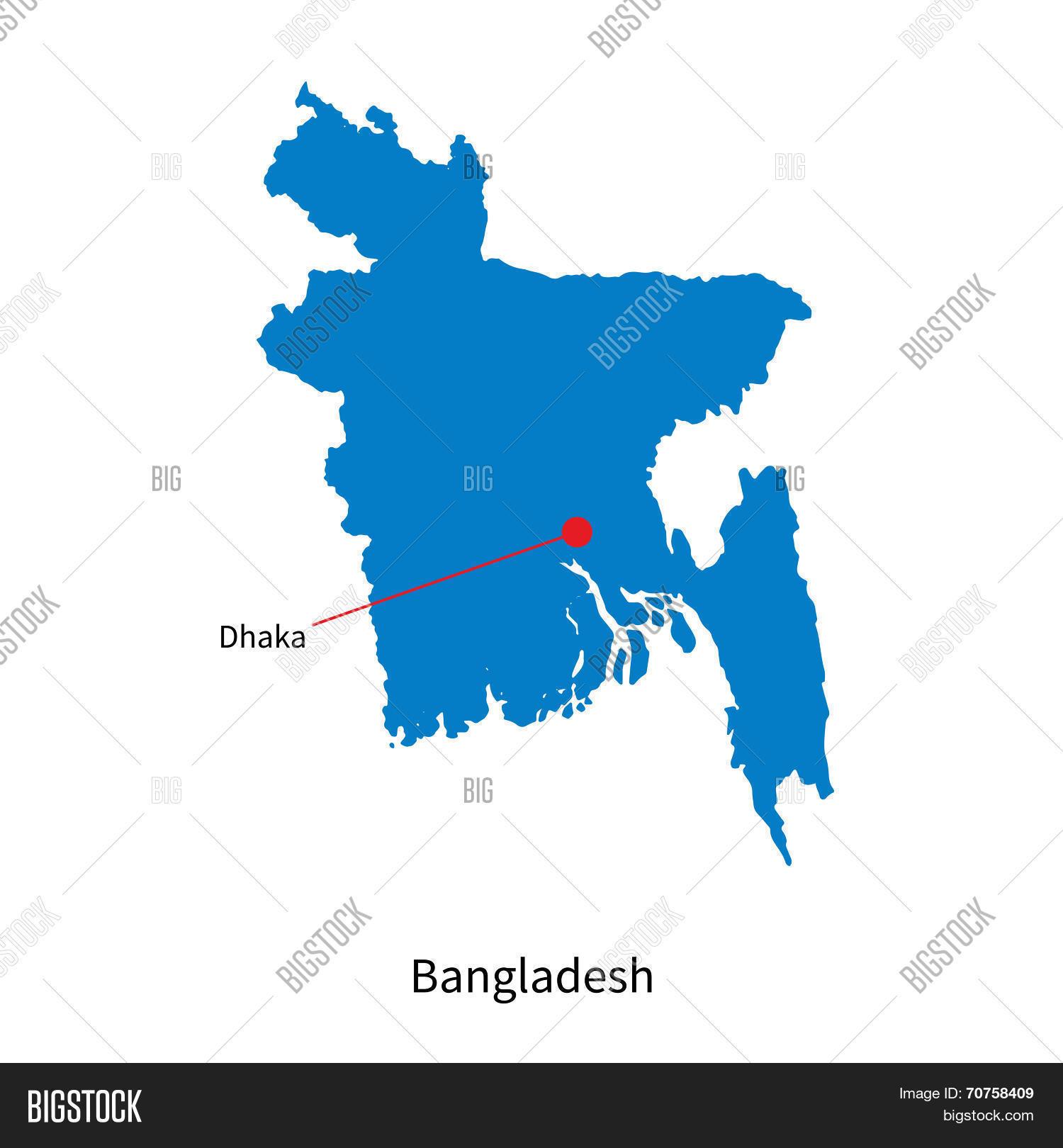 Detailed vector map bangladesh vector photo bigstock detailed vector map of bangladesh and capital city dhaka gumiabroncs Gallery