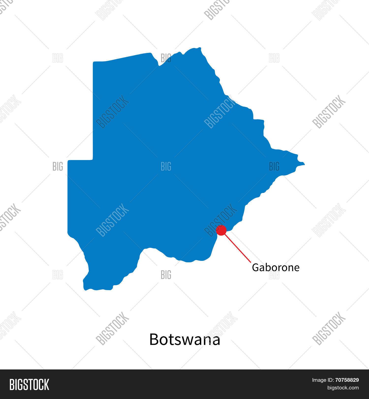 Detailed Vector Map Botswana Vector Photo Bigstock - Luxembourg map vector