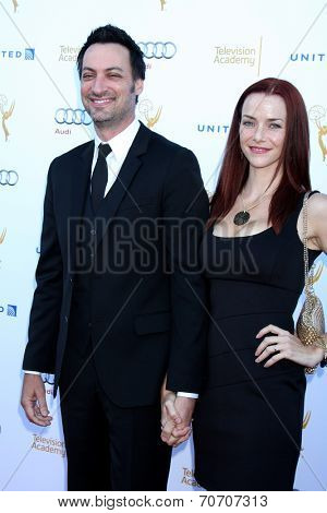 LOS ANGELES - AUG 23:  Stephen Full, Annie Wersching at the Television Academy's Perfomers Nominee Reception at Pacific Design Center on August 23, 2014 in West Hollywood, CA