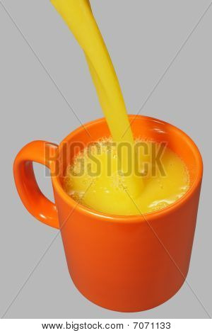 Orange Mug And Juice Stream