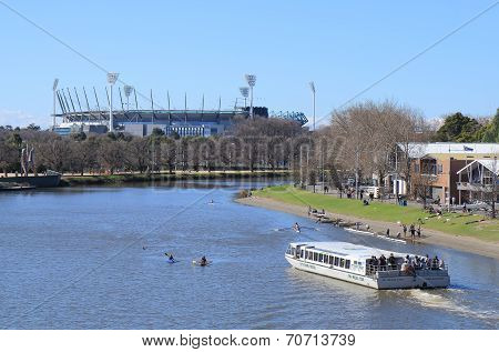 MCG and Yarra river Melbourne