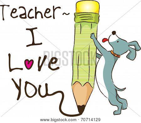 teacher, i love you