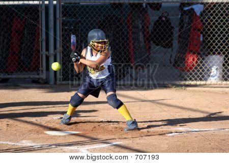 Softball Batter Not Swinging